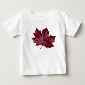 White T-Shirt with a Maple Leaf
