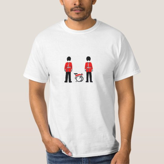 White T-shirt with Brompton Guards Cartoon