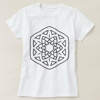 WHITE t-shirt with Folk mandala