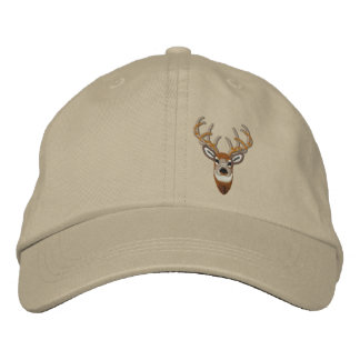 White Tail Deer Buck Embroidery Embroidered Hat