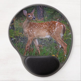 White Tail Deer Fawn Oval Gel Mousepad Gel Mouse Pad