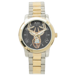 White tail Deer Head Energy Spirit Dial Watch