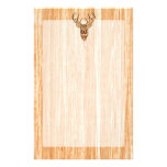 White Tail Deer Head Wood Inlay Grain Style Decor Customised Stationery
