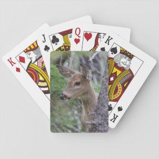 White Tail Deer Portrait Fishercap Lake Playing Cards