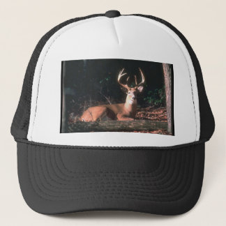 White Tailed Deer Buck Photo Trucker Hat