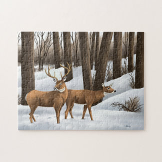 White Tailed Deer Jigsaw Puzzle