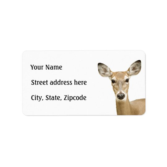 White Tailed Deer Label