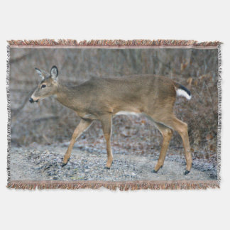 White-Tailed Deer Throw Blanket
