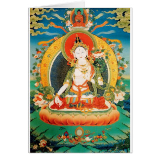 WHITE TARA BUDDHIST DEITY GREETING CARD