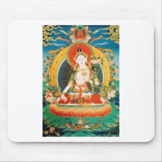 WHITE TARA BUDDHIST DEITY MOUSEPAD