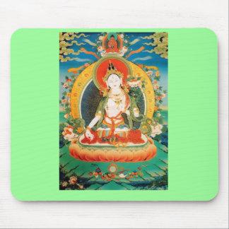 WHITE TARA BUDDHIST DEITY MOUSE PAD