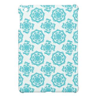 White & Teal Mandala Pattern Case For The iPad Mini