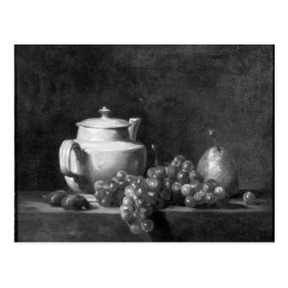 White Teapot with Two Chestnuts Post Card