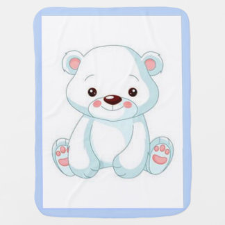 White Teddy Bear Baby Blanket