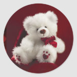 White Teddy Bear Sticker