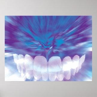 White Teeth Bite Dentist Orthodontist Poster