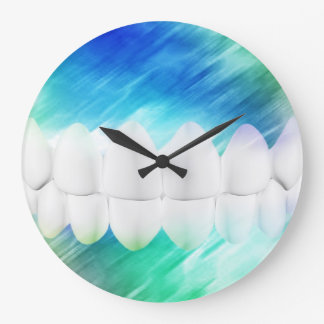 White Teeth Dentist Orthodontist Wall Clock