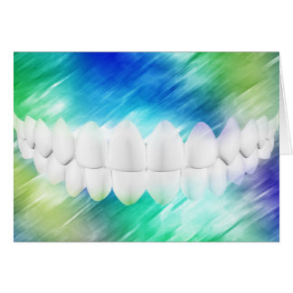 White Teeth Design Dentist Orthodontist Card
