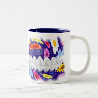 White Teeth Flower Spin Dentist Orthodontist Mug