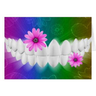White Teeth Smile Dentist Orthodontist Card
