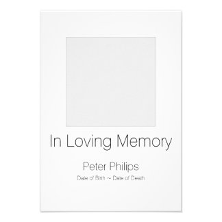 White Template Funeral Announcement + Gray Border