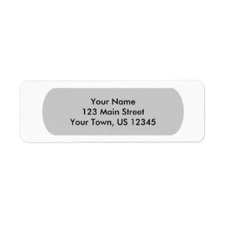 White Template Return Address Label