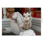 White Temple Dragon Greeting Card