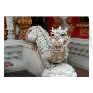 White Temple Dragon Greeting Card