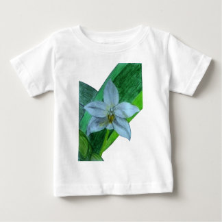 White Terrestrial Orchid Baby T-Shirt