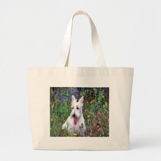 White Terrier Tote Bag