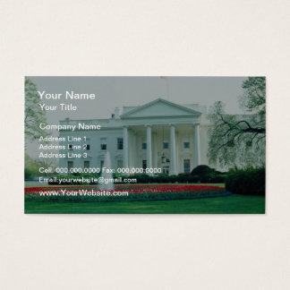 White The White House, Washington, D.C., U.S.A. fl Business Card