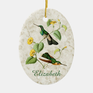 White Throated Mountain Gem Hummingbird Christmas Ornament