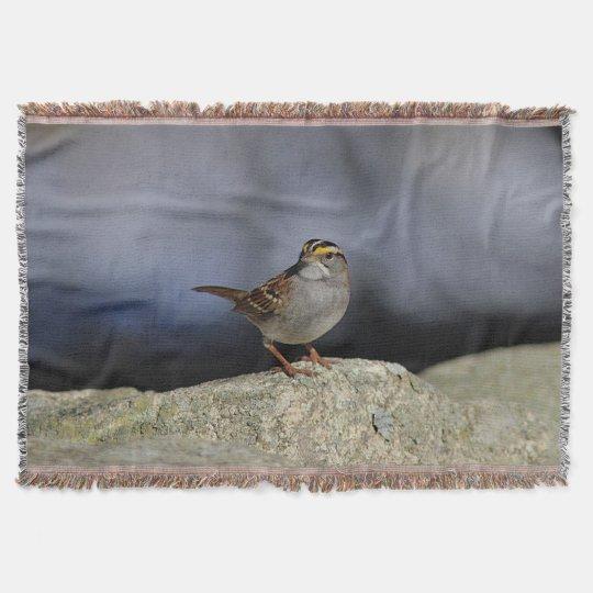 White-throated sparrow throw blanket