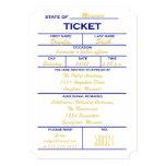 White Ticket Police Graduation Invitations 13 Cm X 18 Cm Invitation Card