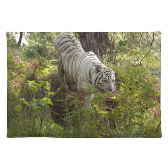 White tiger 010 placemat