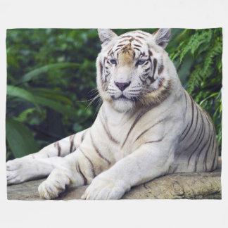 White Tiger 1 Fleece Blanket