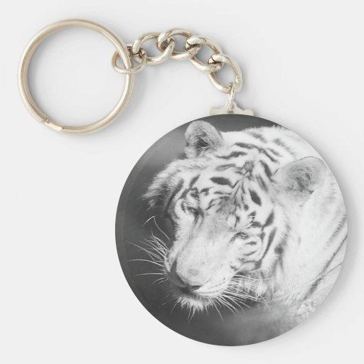 White Tiger 2 Keychains