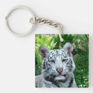 White Tiger Acrylic double-sided Keychain