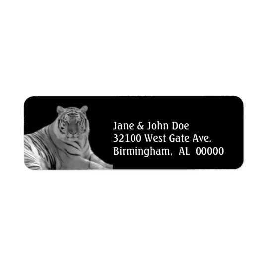 White Tiger Address Labels