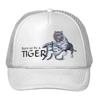 White Tiger and Chinese Symbol Cap