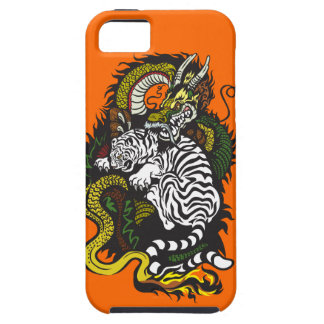 white tiger and green dragon tough iPhone 5 case