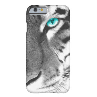 White Tiger aqua eye Barely There iPhone 6 Case