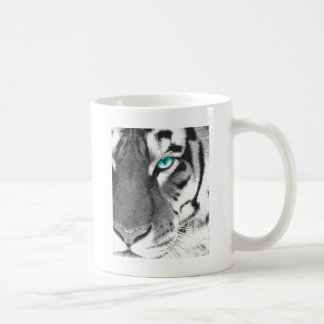 White Tiger aqua eye Basic White Mug
