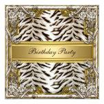 White Tiger Birthday Party Invitation