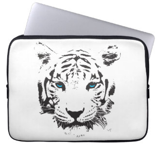 White Tiger Blue Eyes Graphic Computer Sleeves