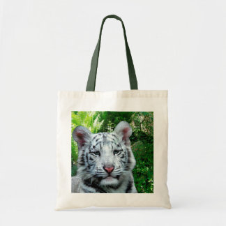 White Tiger Budget Tote Bag