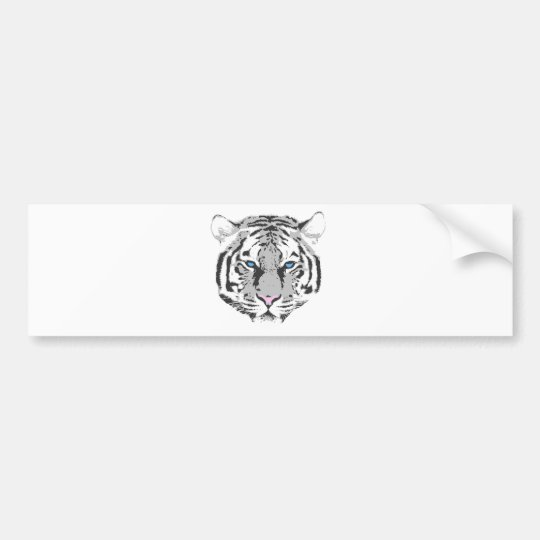 White Tiger Bumper Sticker