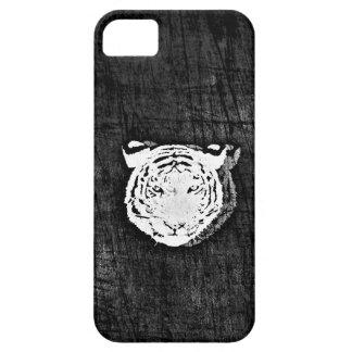 White Tiger case black iPhone 5 Case