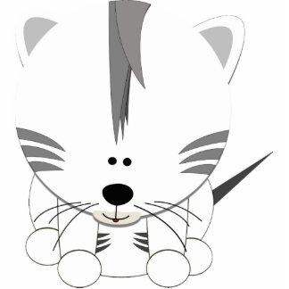 White Tiger Cub Acrylic Cut Out Key Chain