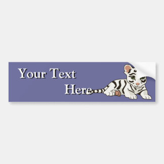 White Tiger Cub Bumper Sticker